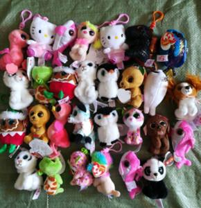 Ty Beanies Anahtarlık Ty Beanie Peluş Oyuncak TY Peluş Kolye Unicorn Peluş oyuncak hayvan Bebekler Parti Favor