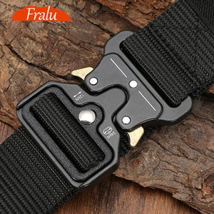 125-140long Big Size Belt Male Tactical Sports Canvas Belt Outdoor Tactical Belt Men's Sports Nylon Belts Army Ceinture Hom