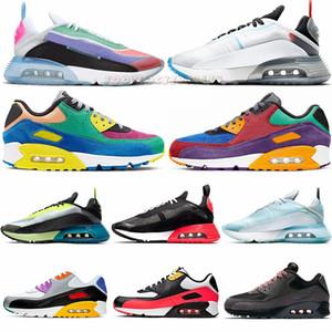 Nike Air Max 2090 Be True Pure Platinum Anatra Camo Uomo Scarpe Bred 90s OG 30 Viotech Nero a infrarossi Mixtape esterna Formatori 90 donne scarpe da tennis correnti