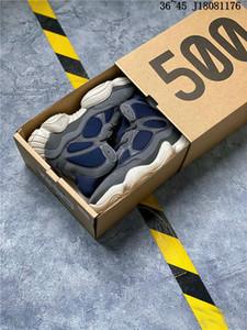 2019 Kanye West 500 Haut Slate High Top Chaussures de course Designer 500 Desert Rat Noir Femme Homme Sport Basket-ball en plein air Chaussures de sport