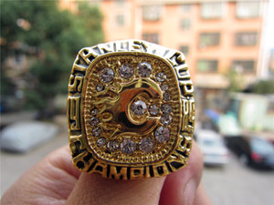 1989 Calgary Flames MC DONALD Stanley Cup Championship Anello Fan promozionale regalo Brithday all'ingrosso 2019 Drop Shipping
