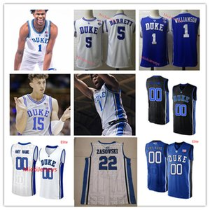 Personalizado Duke Blue Devils Basketball Jersey 45 Keenan Worthington 50 Justin Robinson 51 Mike Buckmire 30 Michael Savarino 13 Joey Baker Jersey