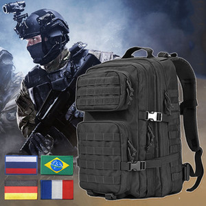 Tactical Backpack Men Waterproof Bagpack Molle Exército 3P assalto ataque Camping Caminhadas Caça Camping Alpinismo Saco