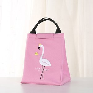 New Ice fumetto Flamingo portatile lunch box lunch sacchetto di picnic sacchetto di ghiaccio isolamento impermeabile