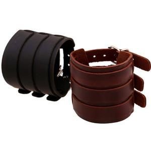 Европа и Америка экспортируют аксессуары панк широкий кожаный браслет из кожи крупного рогатого скота стабильные поставки товаров браслет