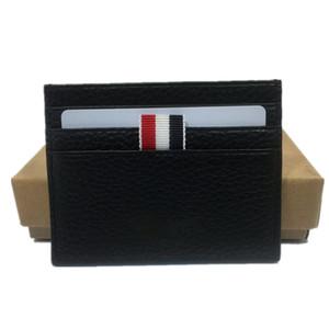 2020 مصمم الأزياء حامل بطاقة الائتمان المحفظة رقيقة جدا بطاقة جلدية ريال مدريد حامل عملة المحفظة الرجال سليم البنك القضية رقم بطاقة مع صندوق الجيب
