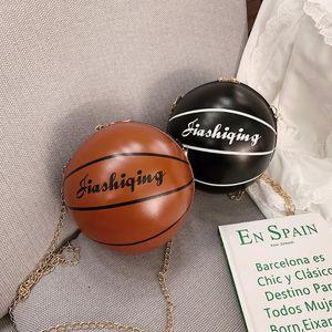 Basketball Shaped Shoulder Mensageiro Bolsas Bolsa Tote Corpo Cruz PU Bag alça ajustável para Totes Cadeia Mulheres Meninas da forma