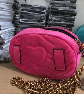 2216 ile Designer- En popüler lüks çanta erkekler kadınlar çanta tasarımcısı Mini messenger çanta Feminina kadife kız bel çantası