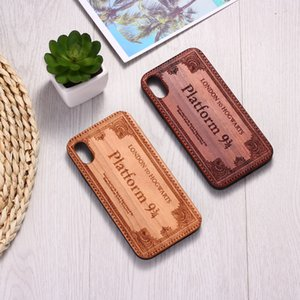 Good quality Wizard Magical Ticket Engraved Wood Case Coque Funda For iPhone 6 6S 6Plus 7 7Plus 8 8Plus XR X XS Max 11 Pro Max samsung s10