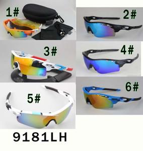 Mens Sonnenbrille Sonnenbrille polarisierte Mode 9181 Bewegung Iridium-Objektiv Eyewear Objektiv mit 5 PC-freies Verschiffen