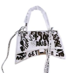 kutu ile büyük harf hacmine sahip Bayanlar Balenciaga çanta çanta deri kişilik omuz çantası moda üst seviye kalite,