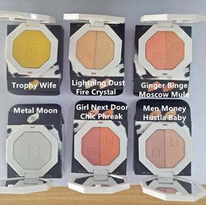 Kostenloser Versand Cosmetic Freie Art Glitter Highlight Lidschatten-Palette Wasserdicht Langlebige Pro Filt weiche Matte Farbe Bronzer Farbe mischen