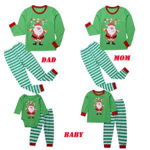 Familie Passende Kleidung Weihnachten Pyjamas Winter Baumwolle Langarm Mutter Vater Kinder Sweatshirt Kinder Nachtwäsche Pyjama
