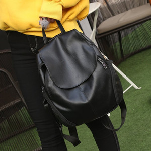 Mode frauen rucksack reise pu leder handtasche rucksack schule umhängetasche