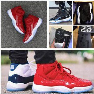 Новые 11 Конкорд баскетбольная обувь пространство 1-й Джем разводят Мужчины Женщины 11s тренажерный зал Красный полночь высокое качество темно-синий гамма кроссовки с коробкой 7-13