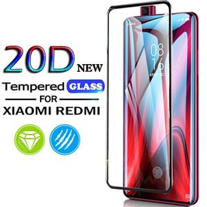 20D pleine couverture en verre trempé pour Xiaomi Mi 10Lite 9T Pro 9Lite A3 écran protecteur pour redmi Note 9 9S 9Pro Max 8T 8 8Pro 8A Film verre
