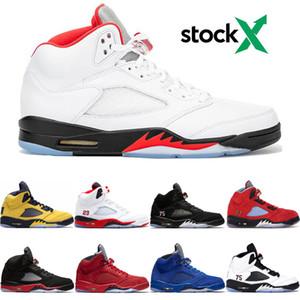 2020 Nuovo Fire Red 5 5s Uomini scarpe da basket Michigan Inspire OG Air Nero MetallizzatoretròGiordaniaallenatore 5 progettista scarpe da ginnastica