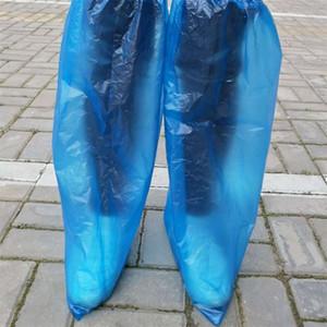 Plástico impermeable cubrezapatos desechables azul claro lluvia día de la alfombra protector del piso de limpieza de la cubierta de arranque Chanclo Inicio En Stock 0 3yq E19