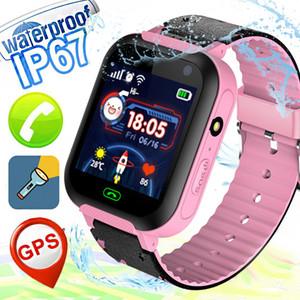 Прохладный Красивые Kid Смарт Часы Anti-потерянный GPS LBS Расположение Двусторонний SOS вызова камеры Водонепроницаемая Safe Tracker Наручные мальчиков Девочка Голосовой чат A25