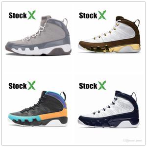 9 9s los zapatos de baloncesto del Mens del corredor azul Gimnasio Rojo Bred OG NakeskinJordánatasco del espacio retro UNC Atletismo Deportes zapatillas de deporte