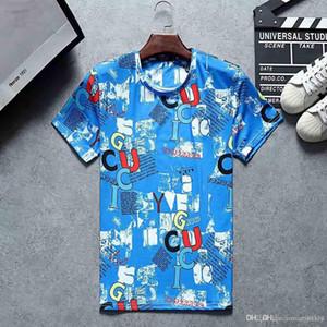 Tasarımcı T Shirt Erkek Giyim Lüks Üstleri Tee Gömlek Moda Yaz Gelgit Braned Mektuplar Baskılı Casual T Shirt
