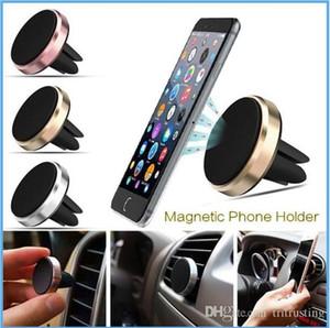 Carro magnético air vent mount suporte do telefone móvel inteligente handfree telefone do painel de metal suporte para celular iphone 7 6 samsung s8 mq50