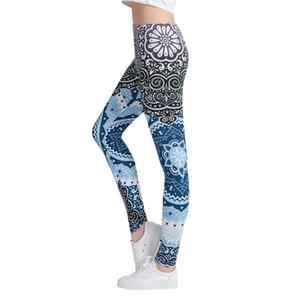 ZSIIBO Mavi Serisi Kadınlar Legging Snow Falling Baskı Spor Tozluklar Moda Zarif Yüksek Bel Kadın Pantolon Leggings sprey