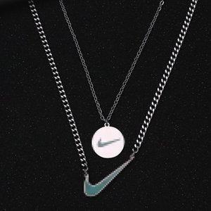 Two Pieces Set Necklaces Hip Hop Men's and Women's Pendants Outdoor Nightclub Street Dance Party Hipster Must Accessories Hot