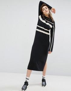Женское повседневное платье Черный полосатый комбинезон в полоску Harajuku, прямые платья