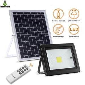 Güneş LED Projektör Spotlight 10W 20W Hareket Sensörü Güneş Uzaktan kumanda 3 modları ile Paneli Projektör Su geçirmez IP65 Sokak Lambası Powered