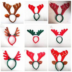 Bands Рождества Antler волос Новогодних украшения Красной Нетканые оголовья отдых партия Birthday Party Supplies LXL652-1