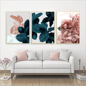 Muro Immagini Per Soggiorno Foglia Cuadros Picture Nordic poster floreale di arte della parete della tela di canapa Pittura Botanical Poster e stampe