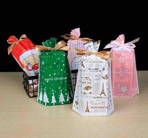 Weihnachtsgeschenke Taschen Mit Kordelzug Süßigkeiten Taschen Party Favor Cookie Tasche Für Weihnachtsfeier Geschenk Neujahr Dekoration XD20285