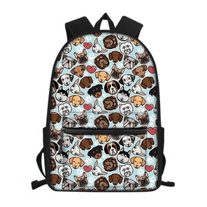 WHEREISART Puppy Dog Backpack for Girls Boys Students Satchel School Bag Children's Orthopedic Backpacks mochila infantil