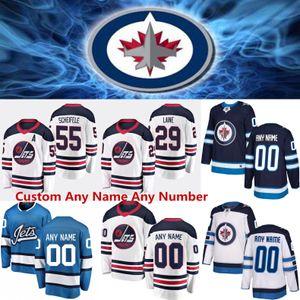 2020 Winnipeg Jets 29 Patrik Lainé 26 Blake Wheeler 33 Dustin Byfuglien 55 Mark Scheifele 37 Connor Hellebuyck chandails de hockey