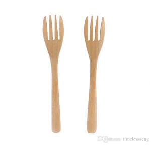 Ensalada de bonito estilo nórdico de madera Tenedor buen postre Tenedor de frutas Forks Ambiental Schima Superba Vajilla envío gratis