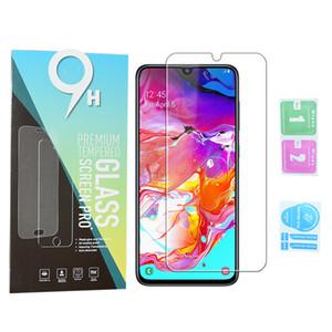 Pantalla 9H vidrio templado película protectora para Samsung Galaxy A70 A10 A30 A40 A50 A20e A60 A80 J4 J6 J8 J3 2018 S7