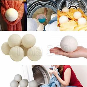 Lã Secador Balls reduzir rugas reutilizável Tecido Natural amaciante Anti estática Grande Felted roupa orgânica Secador de bola Lavandaria Produtos 4731