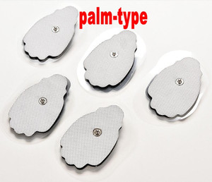 400pcs By DHL Electrode Pad Reusable Self Adhesive Replacement Massage Pads Hand Shape Snap on 3.5mm for mini IQ TENS Unit EMS Massagers