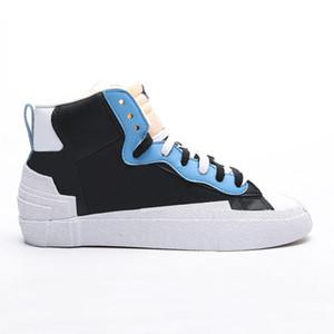 nike sacai mid Blazers Mid x Sacai Skate Shoes zh0633 Alta Baixa Casual sapatilhas do desenhista das sapatas de lona das mulheres dos homens