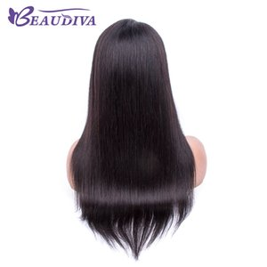 Lace front Human Hair Wigs With Baby Hair Pre Plucked Hairline Brazilian Straight Human Hair Wigs For Black Women