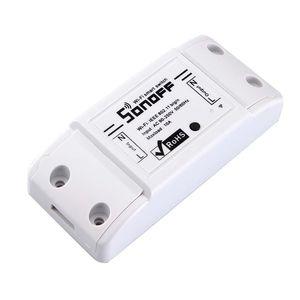 SONOFF 기본 무선 와이파이 원격 제어 자동화 모듈 DIY 타이머 범용 스마트 홈 10A 220V AC 90-250V 스위치