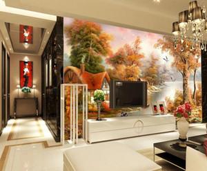 Fundo da parede de óleo pintura de paisagem wallpapers Sala de visitas moderna
