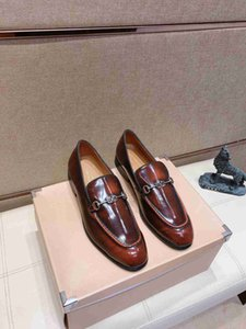 Quality Formal Shoes Men's Fashion Round Head Casual High End Business Leather Shoes fashion Causal shore 0107205