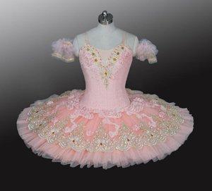 Adult Ballerina Sleeping Beauty Ballet Costumes Girls Sugar Plum Fairy Peach Flower Professional Pancake Platter Tutu