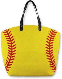 حقائب قماش حقيبة يد حمل البيسبول الرياضة البيسبول البيسبول حقيبة قماش حمل حقيبة حقيبة يد كبيرة المتضخم أمي