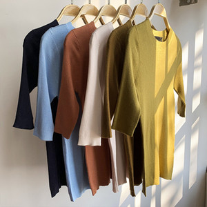 Women Sweater Classic Women's Round Neck Spring and Summer Thin Cashmere Cotton Top