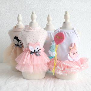 Pet Dog vêtements Cat Princess Dress Vêtements chiot Porter Pet Costume Dog Tutu Jupe Robe 18ss35