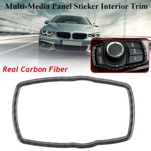 Pour BMW 1/2/3/4/5 / X Series M Series Carbone Multi-Media Panel Sticker autocollant Intérieur Véritable Fibre De Carbone Interrupteur Phare Boutons Couvrent