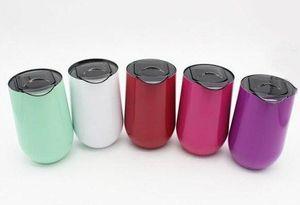 16 oz verres à vin en acier inoxydable à vide tasses Insulated Tumbler 16 oz extérieur Voyage tasses tasses de vin avec couvercles
